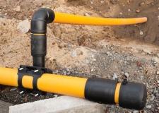 Arbeiten an der Gasversorgung