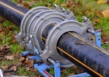 Biogasleitung wird verlegt